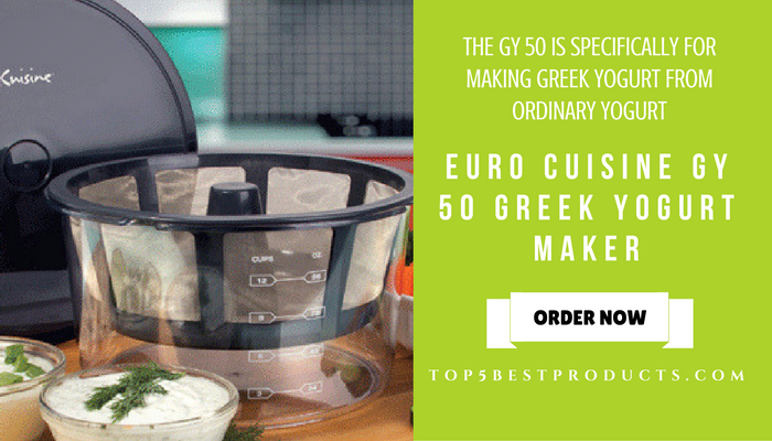 EURO CUISINE GY 50 GREEK YOGURT MAKER