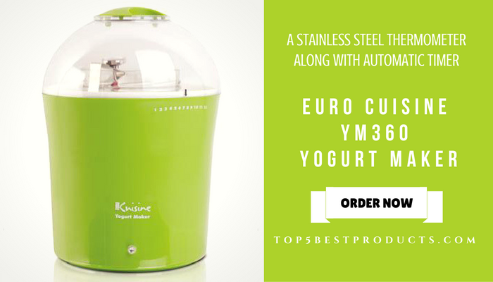 EURO CUISINE YM360 YOGURT MAKER
