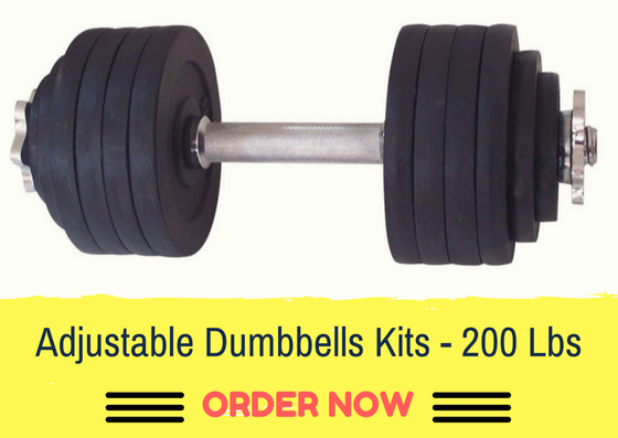 One Pair of Adjustable Dumbbells Kits