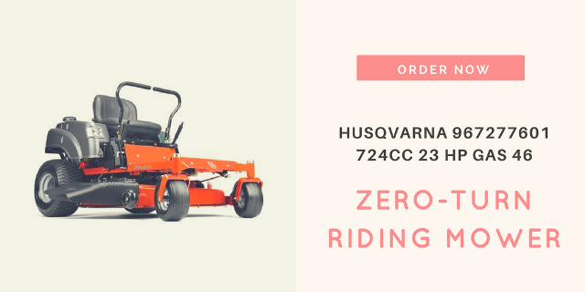 Husqvarna 967277601 724cc 23 HP Gas 46 in. Zero-Turn Riding Mower