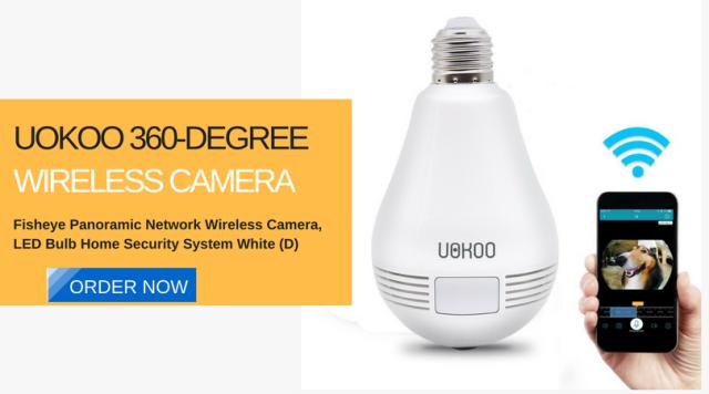 UOKOO 360-Degree Fisheye Panoramic Network Wireless Camera