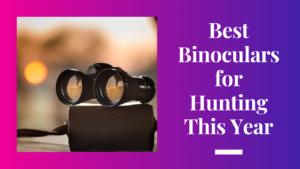 Binoculars for Hunting This Year